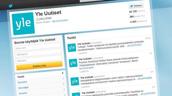 Yle Uutisten Twitter profiili.