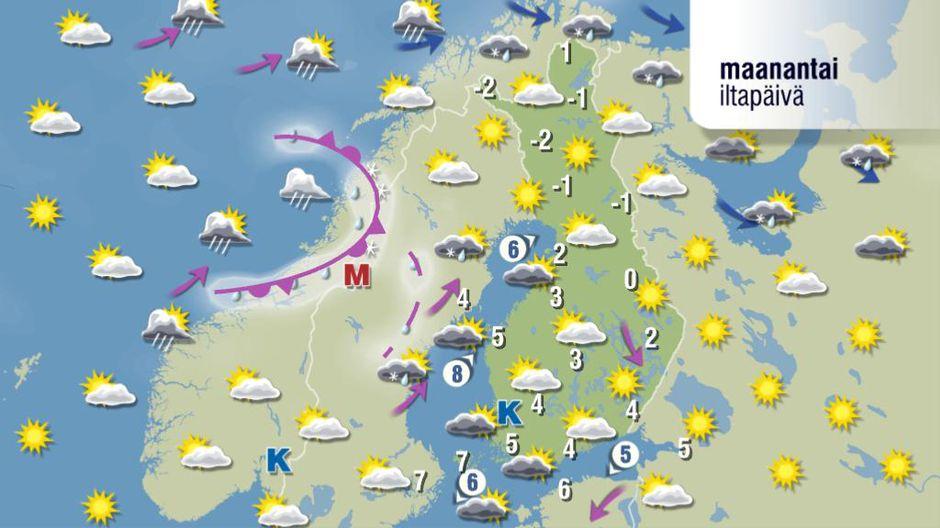 Sää alkaa viiletä - maanantaina aurinko pilkistää jopa Etelä-Suomessa | Yle Uutiset | yle.fi