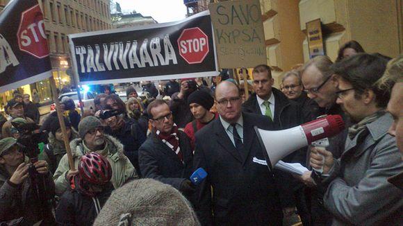 Video: Talvivaara mielenosoitus