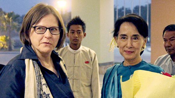 Heidi Hautala ja Aung San Suu Kyi