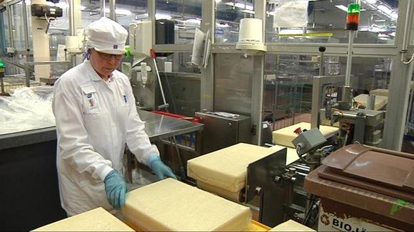 Valion Joensuun-tehdas vie juustoa Venäjälle.