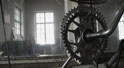 Vanha ratas Kankaan paperitehtaan puuverstaassa.