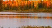 Ruskainen maisema Pihtiputaalta.