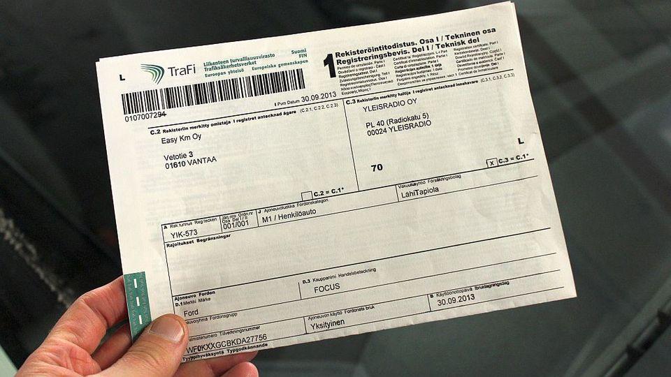 Ajoneuvon rekisteröinti