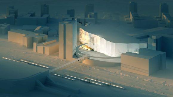 Musiikkisali ja Paviljongin uudistus on sijoitettu kahden Innova-toimistorakennuksen ja hotellin väliin.