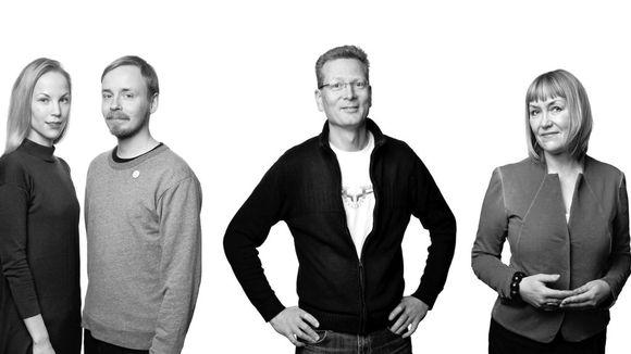 Saana Sipilä & Olli Sallinen, Pasi Pennanen ja Pirjo Kääriäinen olivat vuoden 2016 Ornamo-palkintoehdokkaat.