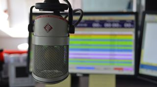 Mikrofoni studiossa.