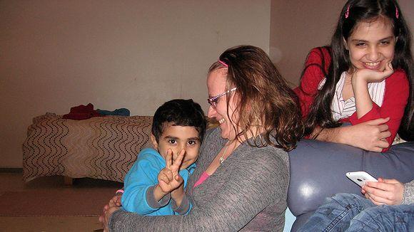 Saija Rauhala ja ystäväperheen lapset