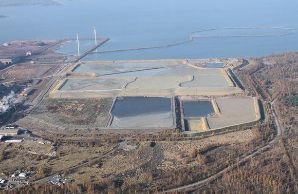 Kuva Bolidenin nykyisestä vaarallisten aineiden kaatopaikasta