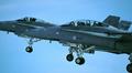 Kaksi Suomen ilmavoimien F-18 Hornet -konetta