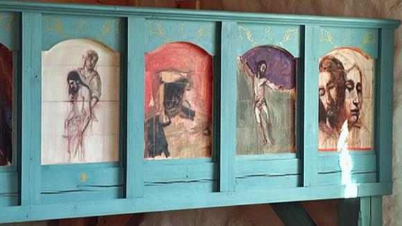 Kuutti Lavosen maalauksia Tyrvään Pyhän Olavin kirkossa.
