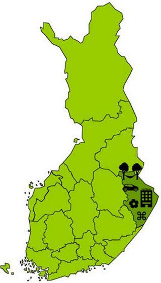 Matkailuvinkit-kartta, Pohjois-Karjala.
