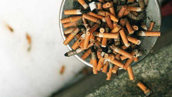 Tumpattuja tupakoita.