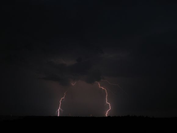 Lightning in the Kirkkonummi region.