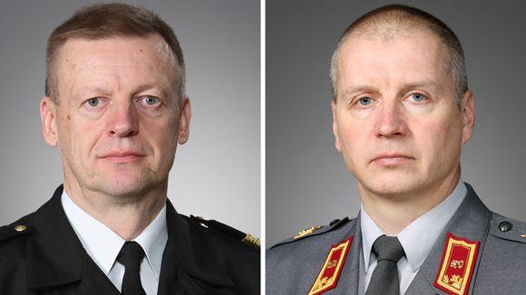Kari Takanen (vas.) ja Petri Hulkko