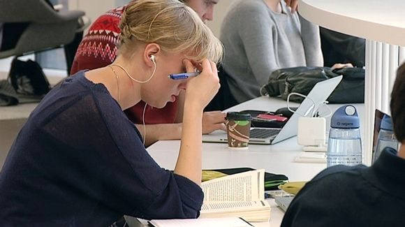 Helsinki University students in December 2012.