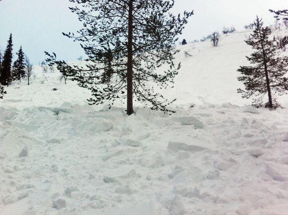 Lumivyörypaikka.