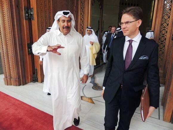 Abdullah bin Khalifa al-Thani ja Jyrki Katainen