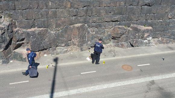 Ampumatapaus sattui Baana-pyörätiellä Helsingin keskustassa.