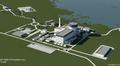Havainnekuva Rosatomin suunnittelemasta ydinvoimalasta Pyhäjoelle.