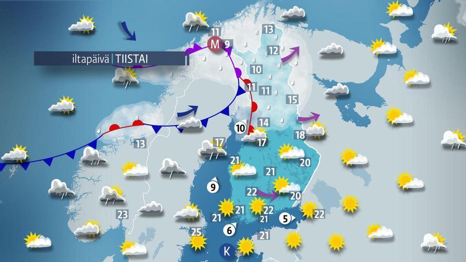 Sää Tallinna Huomenna