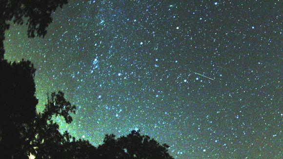 Perseidi-meteori öisellä taivaalla.