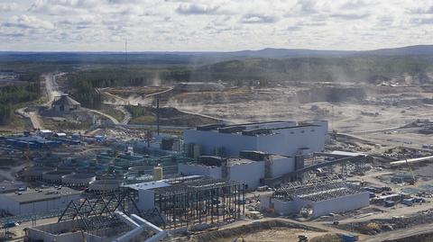Talvivaaran rakenteilla oleva tuotantoalue.