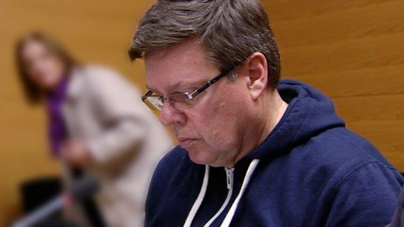 Helsingin huumepoliisin päällikkö Jari Aarnio oikeuden istunnossa 15. marraskuuta.