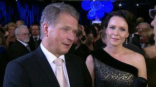 Video: Tasavallan presidentti Sauli Niinistö ja Jenni Haukio
