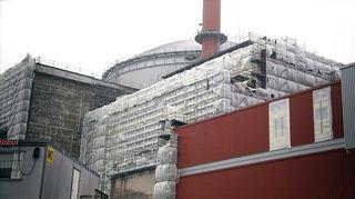 Olkiluoto 3:n rakennustyömaa Eurajoella.