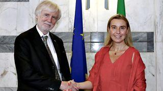 Federica Mogherini ja Erkki Tuomioja.