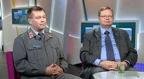 Video: Maanpuolustuskorkeakoulun sotilasprofessori Jari Rantapelkonen (vasemmalla) ja ulkoministeriön viestintäjohtaja Jouni Mölsä Ylen aamu-tv:ssä 15. syyskuuta.