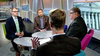 Juha Sipilä, Paavo Arhinmäki ja Timo Soini.