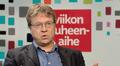 Pekka Sauri Ylen aamu-tv:n haastateltavana 20. syyskuuta 2014.