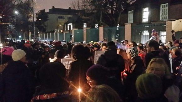 Helsinki Charlie Hebdo muistohetki.