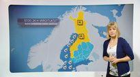 Video: Elina Lopperi kertoo maanantain kelivaroituksista, joita on paljon Länsi- ja Pohjois-Suomessa. Myös tuulivaroituksia on paljon merellä.