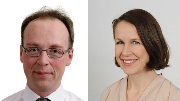 Jussi Halla-aho ja Veronika Honkasalo