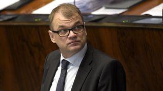 Keskustan puheenjohtaja Juha Sipilä eduskunnan täysistunnossa keskiviikkona 4. maaliskuuta 2015.