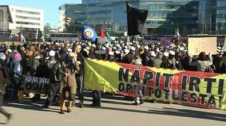 Opintotukimielenosoitus Helsingissä.