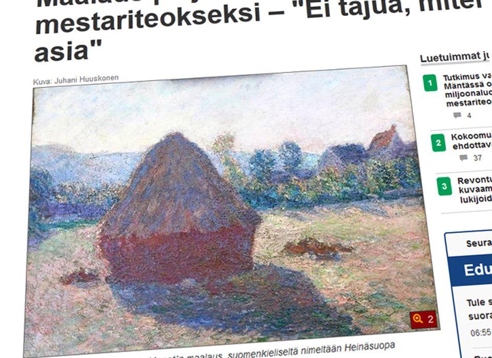 Mäntän maalaus varmistui Claude Monet'n työksi  Yle Uutiset  yle fi
