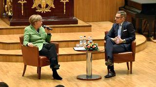 Angela Merkel ja Alexander Stubb.