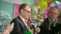 Video: Juha Sipilä puhuu vaalivalvojaisissa Helsingissä.