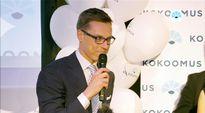 Video: Alexander Stubb puhuu Kokoomuksen vaalivalvojaisissa Helsingissä.