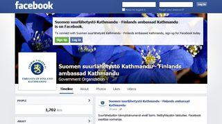 Suomen suurlähetystö Kathmandun facebook-sivu.