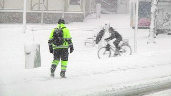 Luminen katu Kajaanissa.
