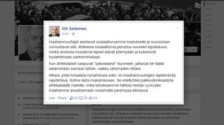 Muokattu kuvakaappaus Olli Sademiehen Facebook-sivuilta.