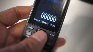 puhelin, kännykkä.