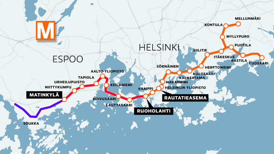 Vajaa vuosi h-hetkeen – Länsimetro täydentää raideverkon   Yle Uutiset   yle.fi