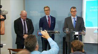 Alexander Stubb ja Juha Sipilä tiedotustilaisuudessa Kesärannassa 31. elokuuta.
