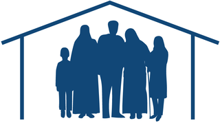 turvapaikanhakijanperhe löysi kodin -piirros.